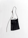 Shoulder Bag with Leather Strap - Black