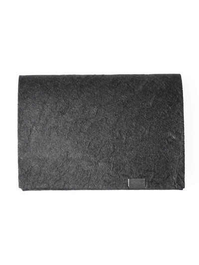 Washi Leather Short Wallet - Black