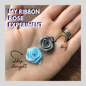 My Ribbon Rose Experiment