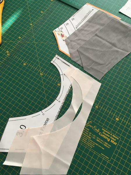 fitting band fabric cut out