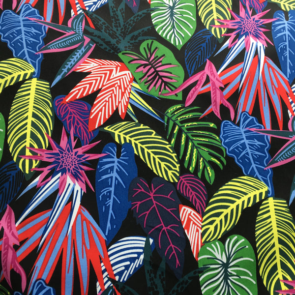 bright tropical print fabric