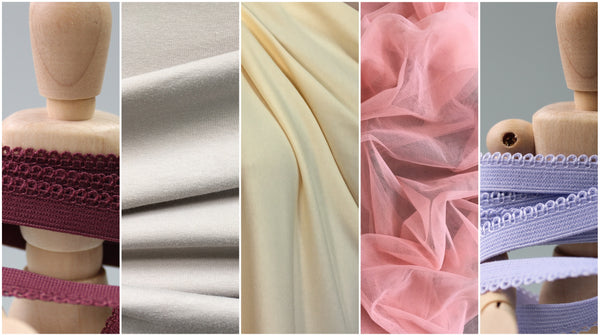 close up photos of fabric and elastic