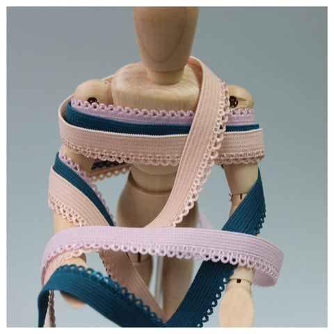 Picot Elastic ~ 10mm ~ 26 colours available