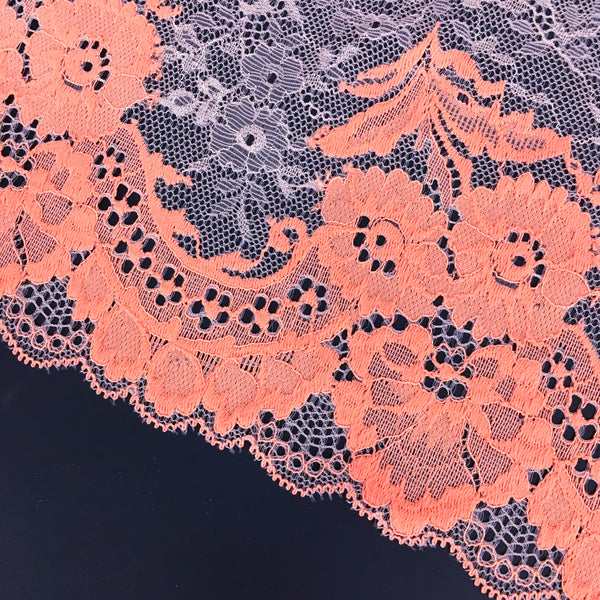 Stretch Lace ~ Coral Blush