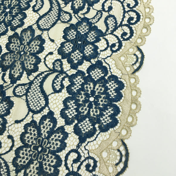 Stretch Lace ~ Blue Floral
