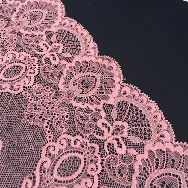 Stretch Lace ~ Pink Flamingo