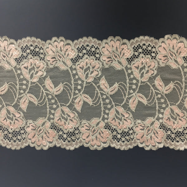 Stretch Lace ~ Platinum Pink