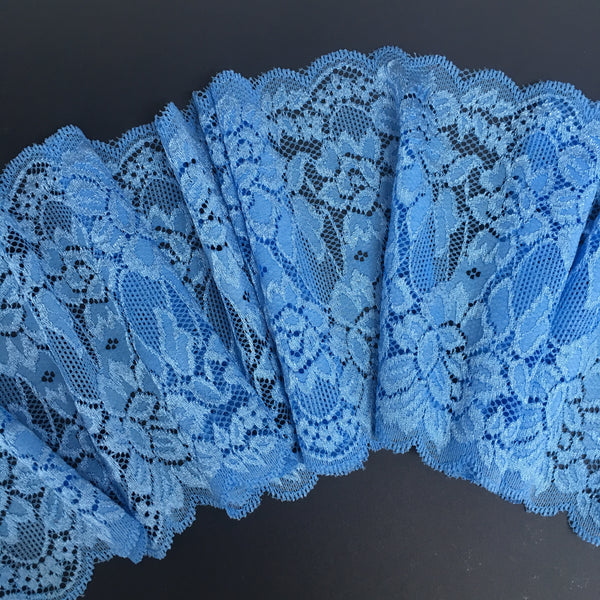 Stretch Lace ~ Cornflower Blue