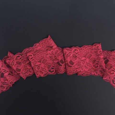 Stretch Lace ~ 55mm ~ Raspberry
