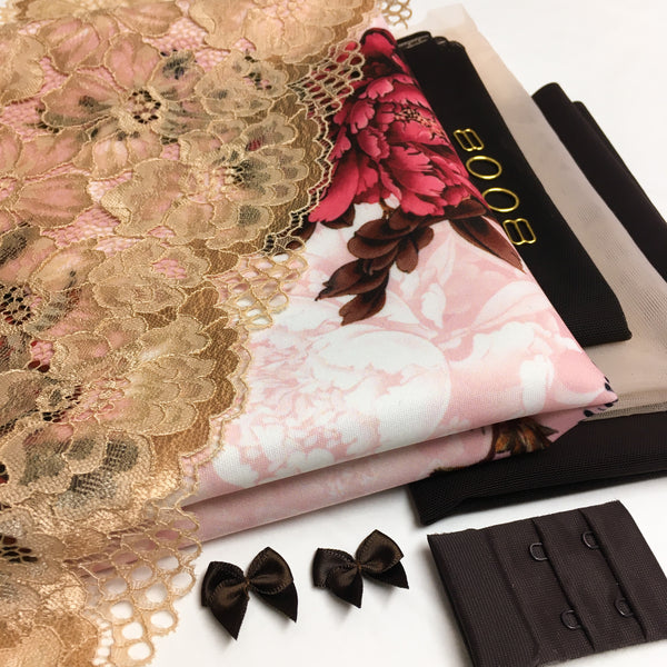 Bralette and Briefs Kit ~ Roses and Chocolate