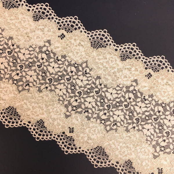 Stretch Lace ~ Shimmering Blush