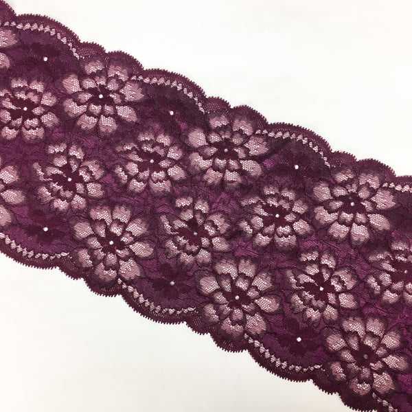 Stretch Lace ~ Red Wine
