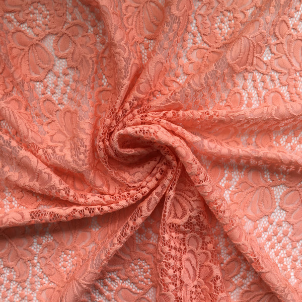 stretch lace bra fabric coral