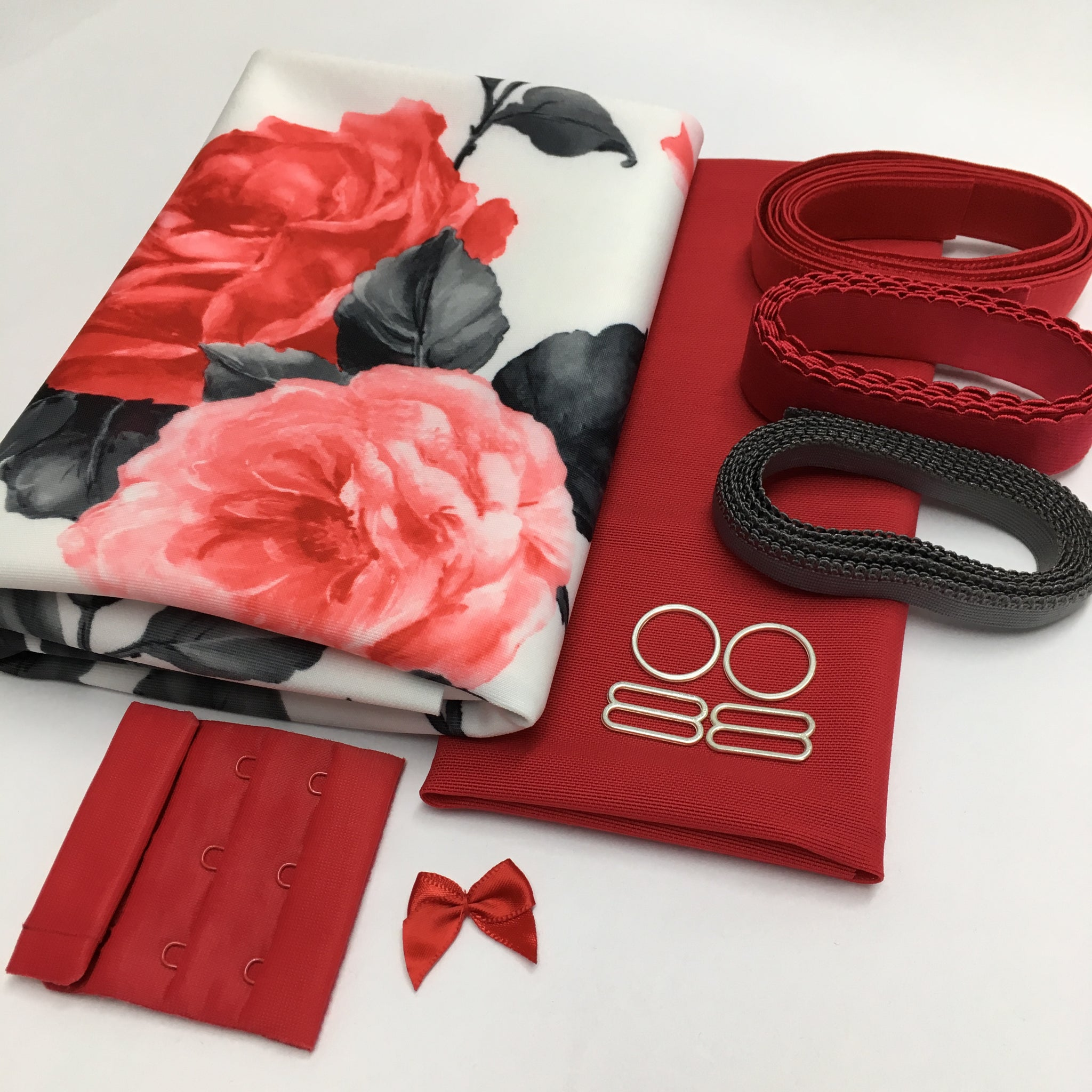 soft bra kit scuba red rose