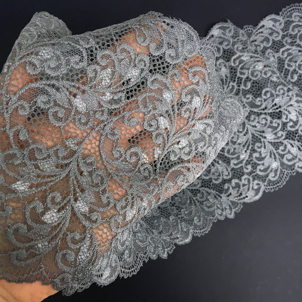Stretch Lace ~ Silver