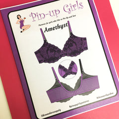Pin-up Girls 'Amethyst lace bra' - paper pattern