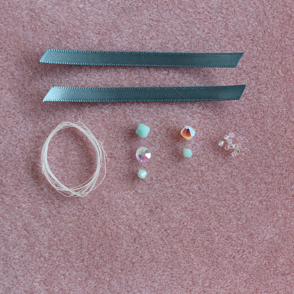Bead drop kit ~ Mint alabaster