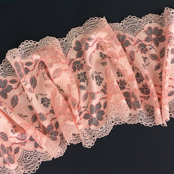 Stretch Lace ~ Peachy Pink