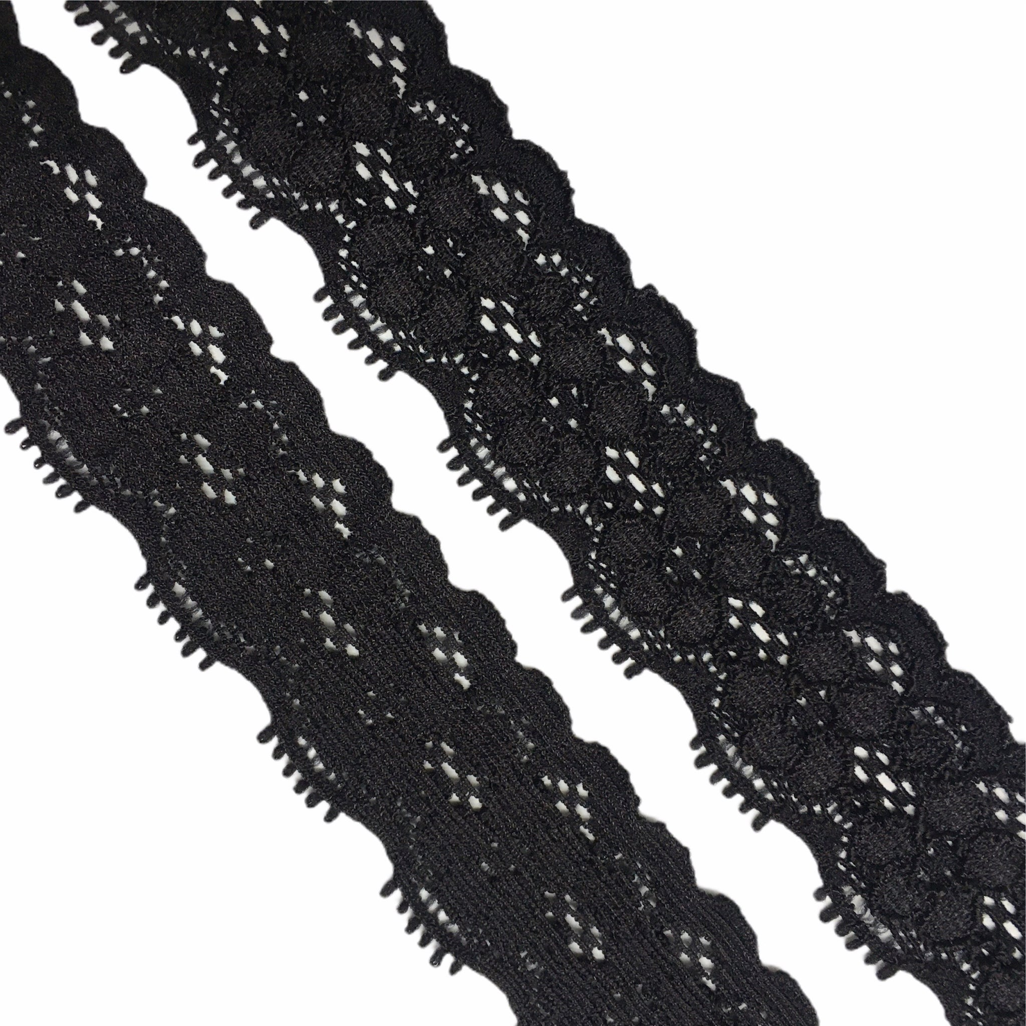 Stretch Lace ~ 25mm 'Black'