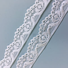 Stretch Lace - 25mm 'Ivory'
