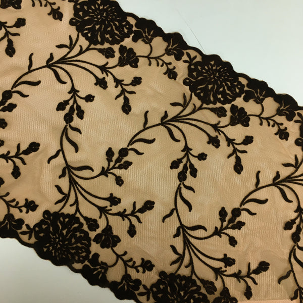 Stretch Lace ~ Velvet Sepia
