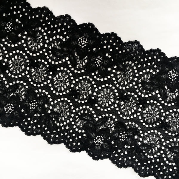 Stretch Lace ~ Ebony Cirque