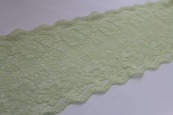 stretch lace spring green colour