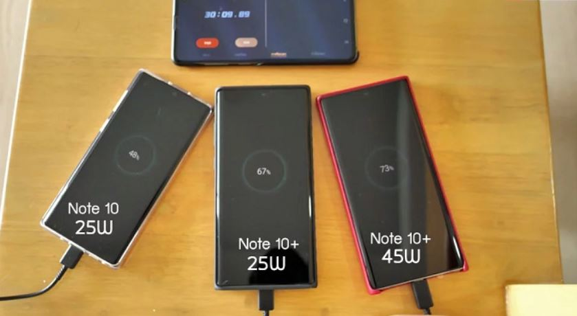 Samsung Galaxy Note 10+ fast charging testing, is the 45W charger needed?