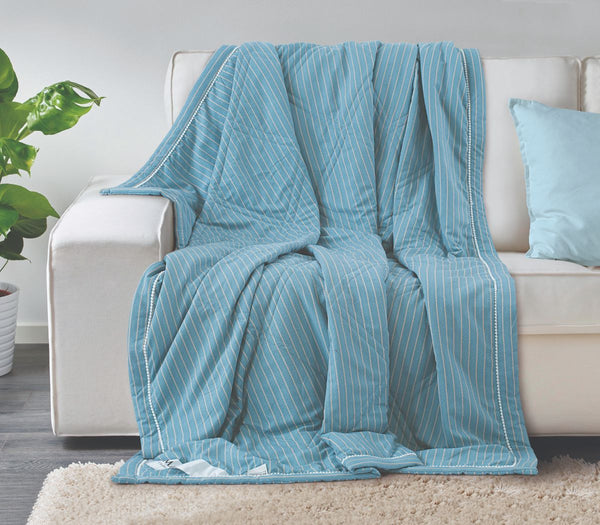 Malako AC Comforters Cotton + Polyester (120 gsm Polyfibre Filling) Turkish Stripes Comforter/Quilt