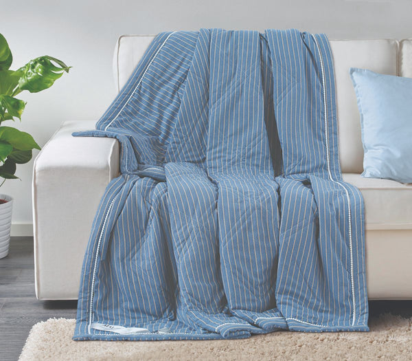 Malako AC Comforters Cotton + Polyester (120 gsm Polyfibre Filling) Air Force Stripes Comforter/Quilt