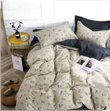 Malako Classic 100% Cotton Ivory Botanic 6 Piece Bedding Set