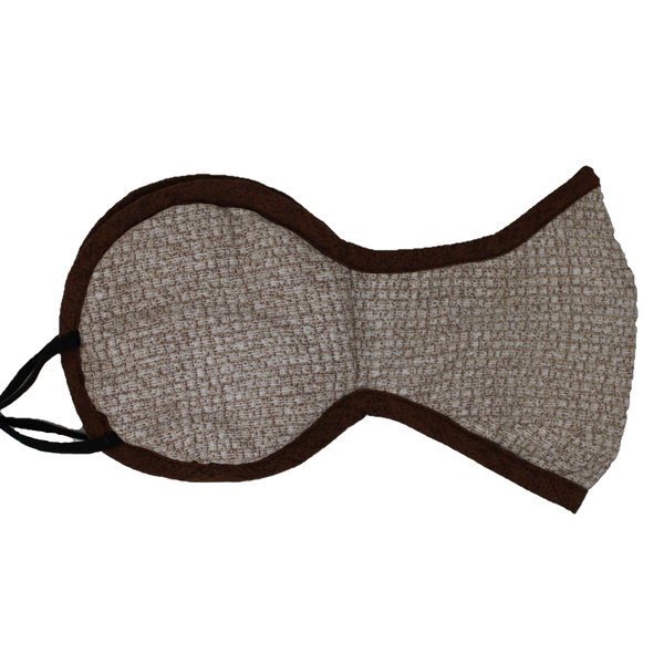 Malako Beige Abstract 100% Cotton Ear Mask