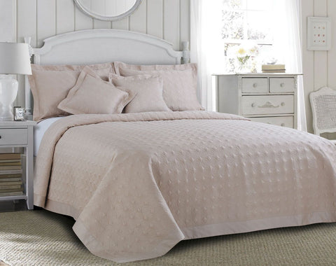 Malako Kairo Quilted Bedcover Fine Cotton Wheat Solid Bedcover