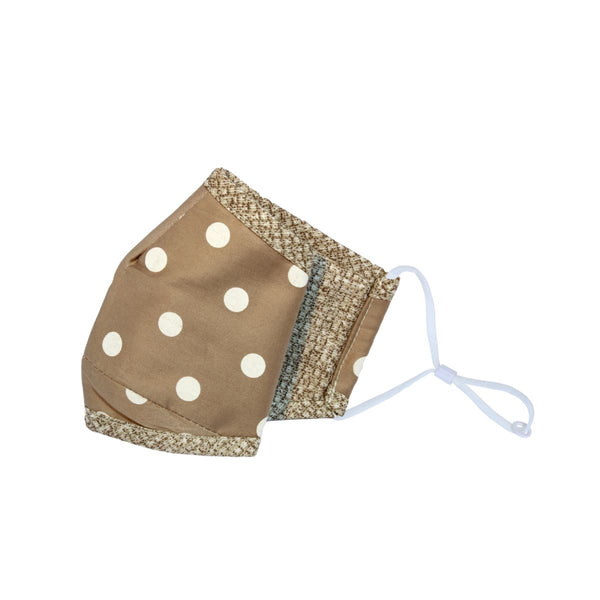 Malako Peanut Brown Dots 3 Layer Anti-Pollution Face Mask