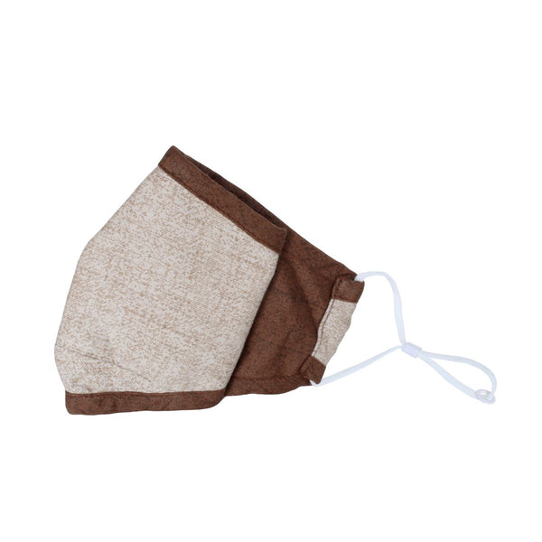 Malako Beige & Brown Solid 3 Layer Anti-Pollution Face Mask