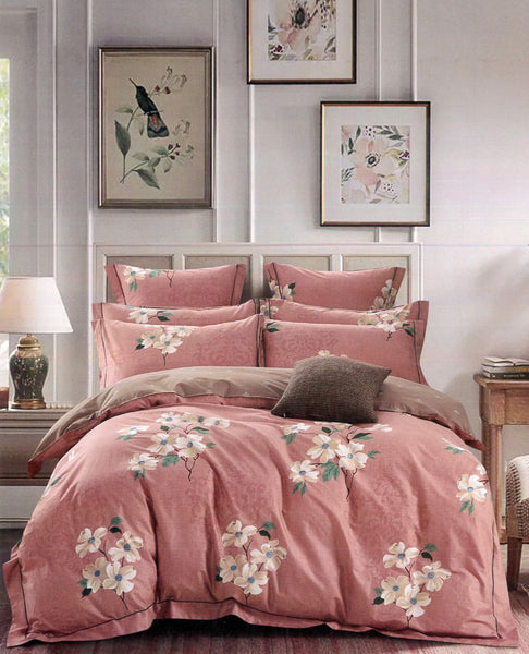 Malako Royale XL 100% Cotton Mellow Rose Floral Bedding Set