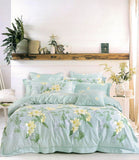 Malako Royale XL 100% Cotton Sea Green Floral Bedding Set