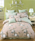 Malako Royale XL 100% Cotton Deep Almond Floral Bedding Set