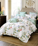 Malako Royale XL 100% Cotton Off-White Floral Bedding Set