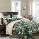 Malako Royale XL 100% Cotton Forest Green Floral Bedding Set