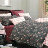 Malako Royale XL 100% Cotton Brown  Floral Bedding Set