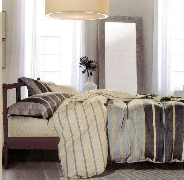 Malako Royale XL 100% Cotton Dark Beige Geometrical Bedding Set
