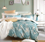 Malako Royale XL 100% Cotton Deep Aqua Floral Bedding Set