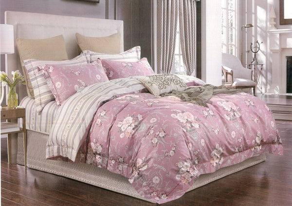 Malako Royale XL 100% Cotton Rose Floral Bedding Set