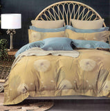 Malako Royale XL 100% Cotton Bumblebee Yellow Botanic Bedding Set