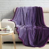 Malako Shaded Double Heavy Plush Plum Blanket