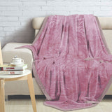 Malako Shaded Double Heavy Rose Pink Blanket