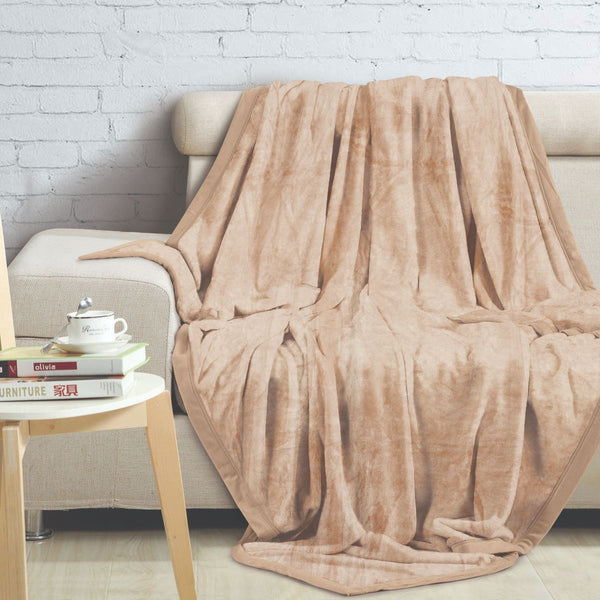 Malako Shaded Double Heavy Beige Blanket