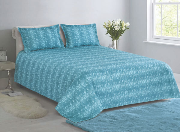 Malako Textures Bedding Set 100% Cotton Sky Blue Ethnic Bedding Set