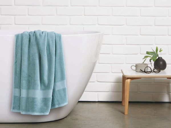 Malako Towels 100% Cotton Maya Blue Plain Towels